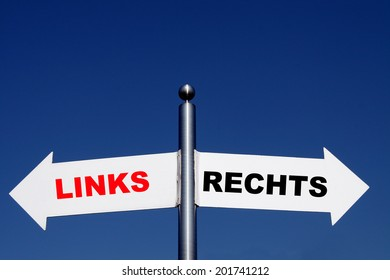sign with the German word