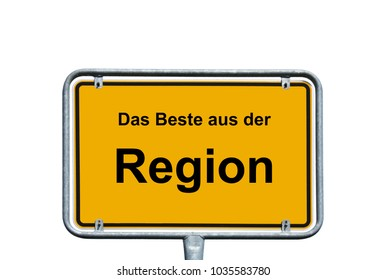 sign with the german words best of the region
