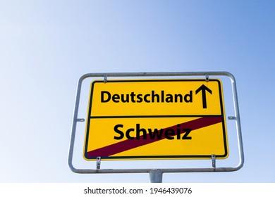 """Sign Germany Switzerland german """"Deutschland Schweiz"""""""