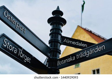 Sign in Gotland. The Way to Almedalen