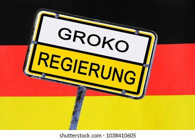 Sign - Government of Germany has voted for the grand coalition