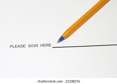 Sign here concept