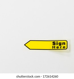 Sign Here Tag
