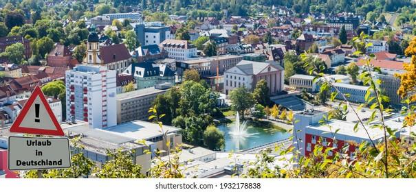"""Sign Holidays in Germany german """"Urlaub in Deutschland"""" - Shutterstock ID 1932178838"""