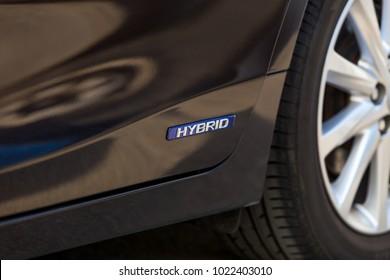 sign of a hybrid car