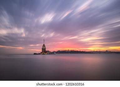 Sign of Istanbul which is attracted by tourists is Maiden Tower