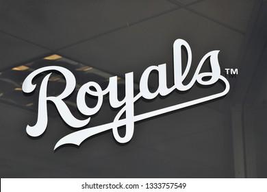 Sign for the Kansas City Royals at Surprise Stadium Surprise Arizona 3/2/19
