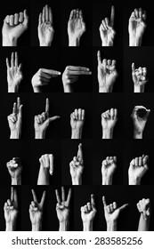 Sign language: American alphabet