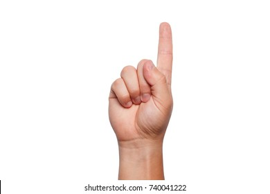 Sign language, hand showing sign of Z alphabet