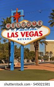 A sign in Las Vegas