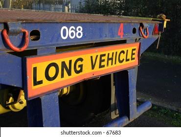 Sign, Long Vehicle, Rear