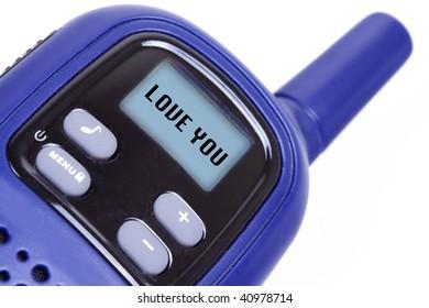 Sign I Love You  on portable radio transmitter