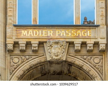 sign maedler passage in Leipzig, Germany