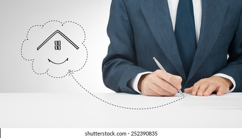 Sign mortgage, insurance, lease (tenancy) agreement or another house related document.