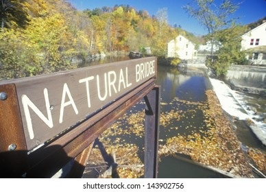 Sign for Natural Bridge, North Adams, Massachusetts