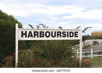 Sign in New Zealand with text Harbourside