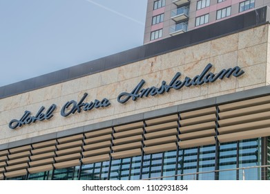 Sign Of The Okura Hotel At Amsterdam The Netherlands 2018