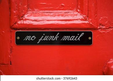 """sign on door """"no junk mail"""""""