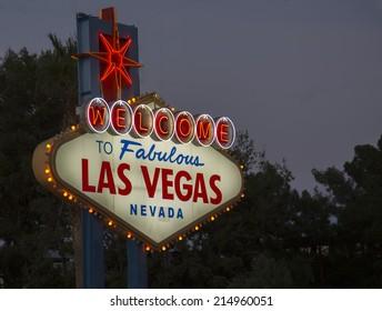 Sign on Las Vegas strip,Nevada
