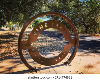 Sign on the Napa Valley Wine trail