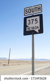 Sign on a road in Nevada (USA)