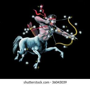 Sign on zodiac constellation The Archer (Sagittarius)