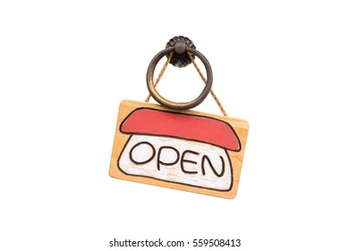 sign of open on white backgrounds