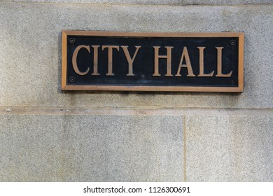 Sign outside of City Hall