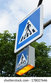Sign pedestrian crossing