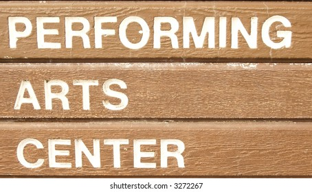 Sign for a performing arts center