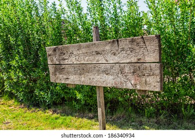 sign a pointer to the board in rural areas