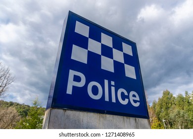 Sign of a police station in Australia