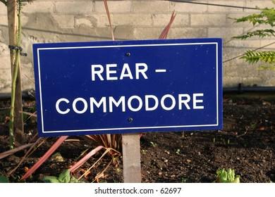 Sign, Rear-Commodore