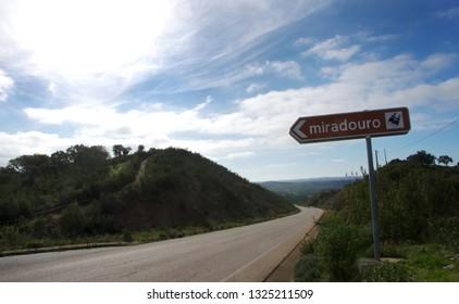 sign road in alentejo region, Portugal