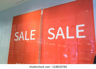 sign of sale on the window