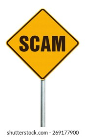 Sign saying scam