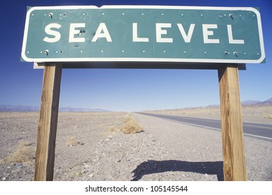 Sign for Sea Level, Death Valley, California