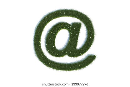 At Sign Series Symbols out of realistic Grass