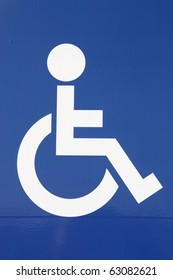 Sign showing the symbol for disabled accessibility
