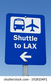 A Sign of Shuttle to LAX