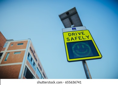 sign smile drive safely