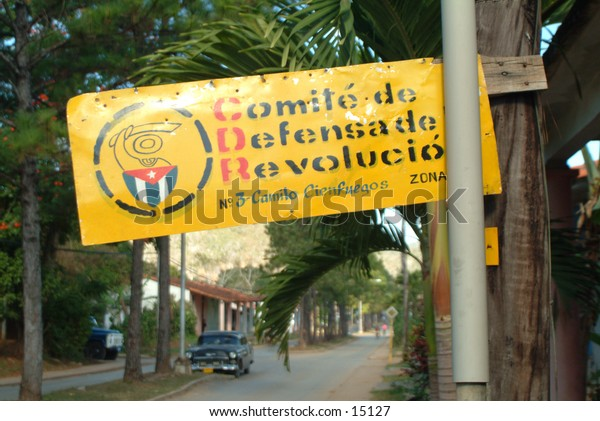 Sign for the Socialist Party in Vinales, Cuba