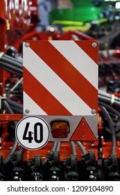 sign with speed limit for cars