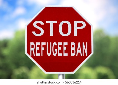 Sign - Stop Refugee Ban