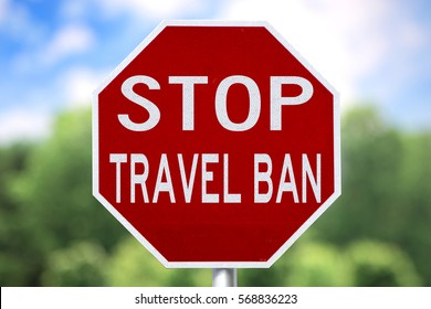 Sign - Stop Travel Ban