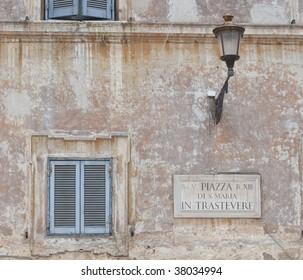 Sign in Trastevere, Rome, Italy
