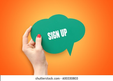 Sign Up, Technology Concept