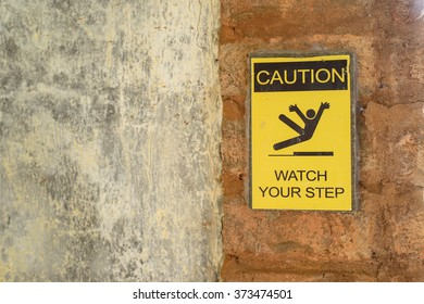 sign for watching your step