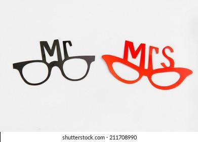 "Sign for wedding ""Mr & Mrs"""