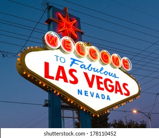 Sign Welcome to Fabulous Las Vegas in Nevada, USA